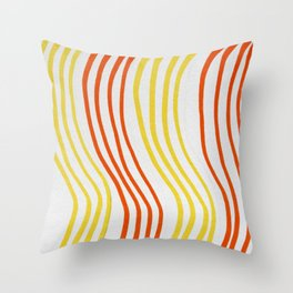 Red And Yellow Stripes Throw Pillow