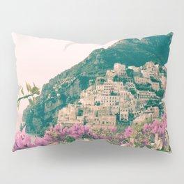 Flowers in Positano, Italy on the Amalfi Coast Pillow Sham