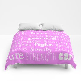 Breast Cancer 2015 light pink Comforters
