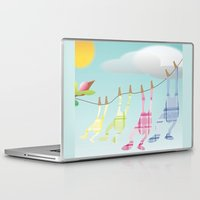 onesie Laptop & iPad Skins featuring Clothesline by Gloria Larravide
