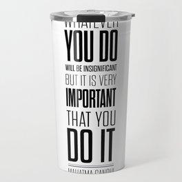 Lab No. 4 - Mahatma Gandhi Inspirational Quotes Poster Travel Mug
