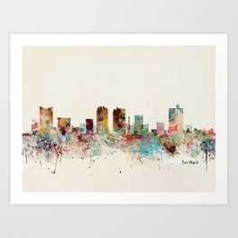 fort worth skyline Art Print