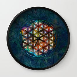The Flower of Life Symbol Wall Clock
