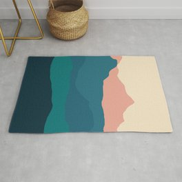 Sunset rolling mountains Rug