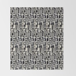 Maze Knit Throw Blanket