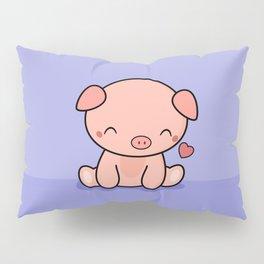 Cute Kawaii Pig With Heart Pillow Sham