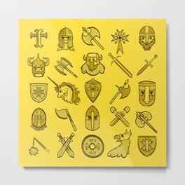 Medievalry Metal Print