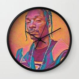 Snoop Dogg Thoughtful Artistic Illustration Acid Acrylic Style Wall Clock