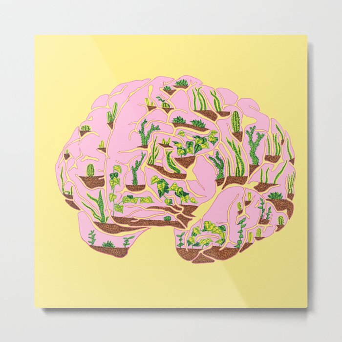 Brain Terrarium Metal Print