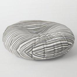 Rake Watercolor in Black and White Floor Pillow