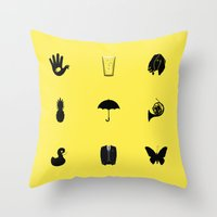 how i met your mother Throw Pillows featuring How I Met Your Mother by George Hatzis