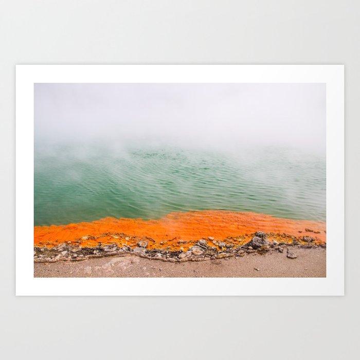 Orange Edged Kunstdrucke