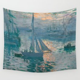 Sunrise Marine by Claude Monet, 1873 Wall Tapestry