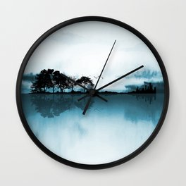 Nature Guitar Blues Wall Clock