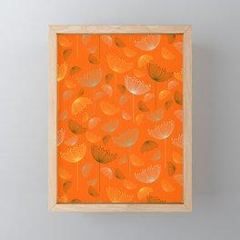 Mid-Century Modern Art Umbrella Flowers 1.4 Framed Mini Art Print