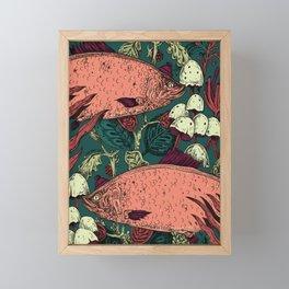 Trippin Underwater Framed Mini Art Print