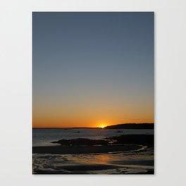 Sunset at Crescent Beach Canvas Print