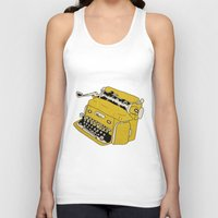 grunge Tank Tops featuring Grunge Typewriter by Nan Lawson