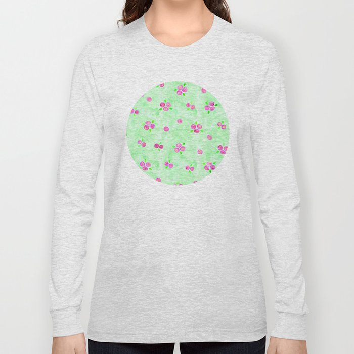Roses Pattern 01 Long Sleeve T-shirt