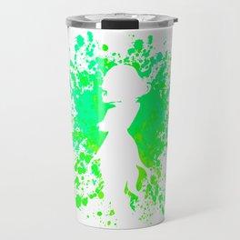 Anime Hero Paint Splatter Inspired Shirt Travel Mug