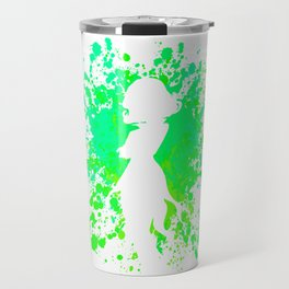 Anime Hero Paint Splatter Inspired Shirt Travel Mug