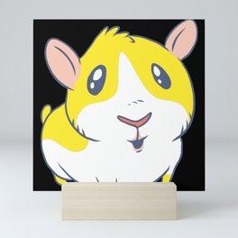 Cute & Kawaii Cartoon Yellow Guinea Pig Kids Decor Idea Animal Lover Art Mini Art Print