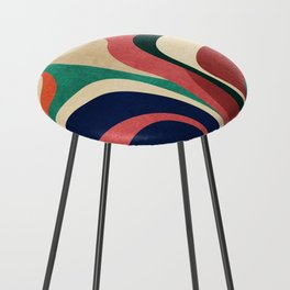 Impossible contour map Counter Stool