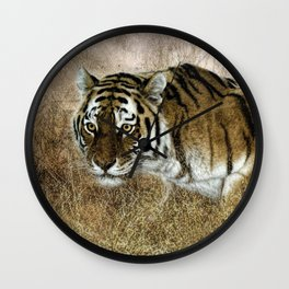 Ready to pounce. Wall Clock