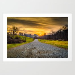 Vivid Sunset Art Print
