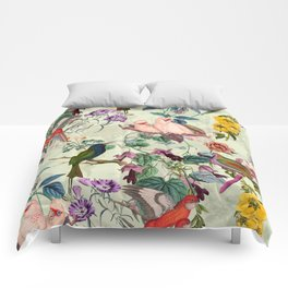 Floral and Birds VIII Comforters