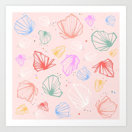 Happy colorfull chalices confetti Art Print