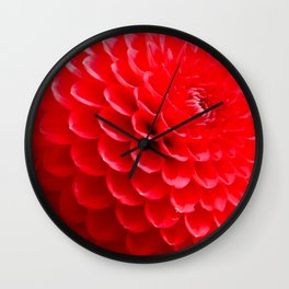 Red Dahlias in the Summer Wall Clock