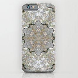 White and Gray Stone Mosaic iPhone Case