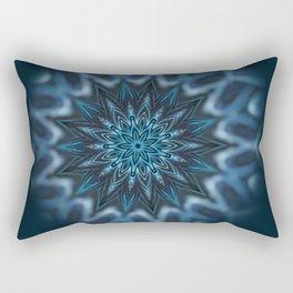 Blue Ice Swirl mandala Rectangular Pillow