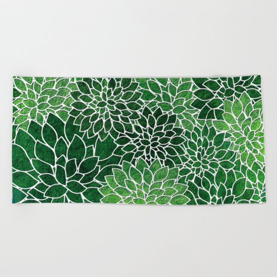 Floral Abstract 23 Beach Towel