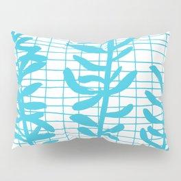 Grid Sprig - aqua blue Pillow Sham