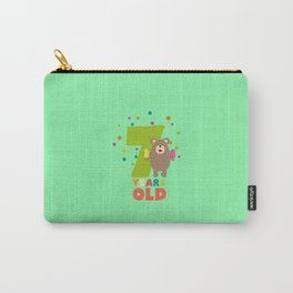 Seven Years seventh Birthday Party Grizzly Dde70 Carry-All Pouch