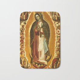 Our Lady Virgin of Guadalupe Virgin Mary Holy Blessed Maria Christmas Gift Religion Bath Mat