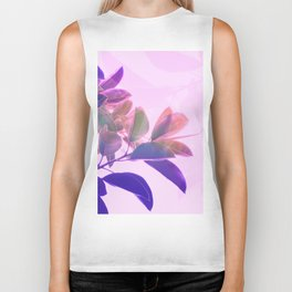 Elegant Tropical Rubber Foliage 1 - Pink and purple Biker Tank