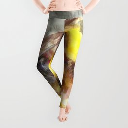 Busy Busy Busy Watercolor Leggings