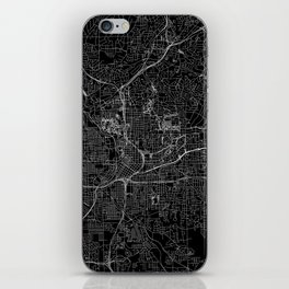Atlanta Black Map iPhone Skin