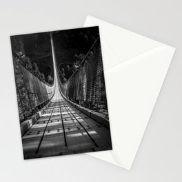 nice view on the Geierlay Bridge - black and white Stationery Cards