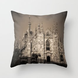 Duomo of Milan, Cathedral in the center of Milan Throw Pillow