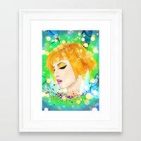 hayley williams Framed Art Prints featuring Digital Painting - Hayley Williams by EmmaNixon92