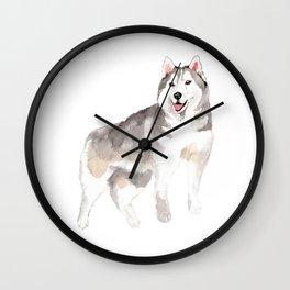 Husky my Love Wall Clock