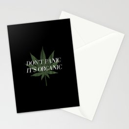 Don't Panic it's Organic Vintage Potleaf Print Stationery Cards