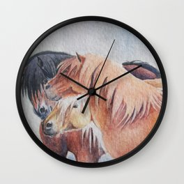 Three Musketeers Shetland Ponies Wall Clock