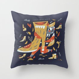 Crazy shoes lover Throw Pillow