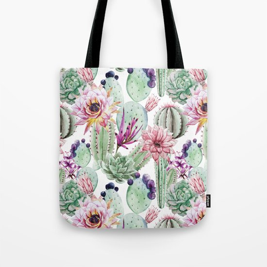 Watercolor Cacti, Opuntia, Colorful, Desert, Tropic by lovecoloray