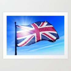The British flag waving on the wind Art Print